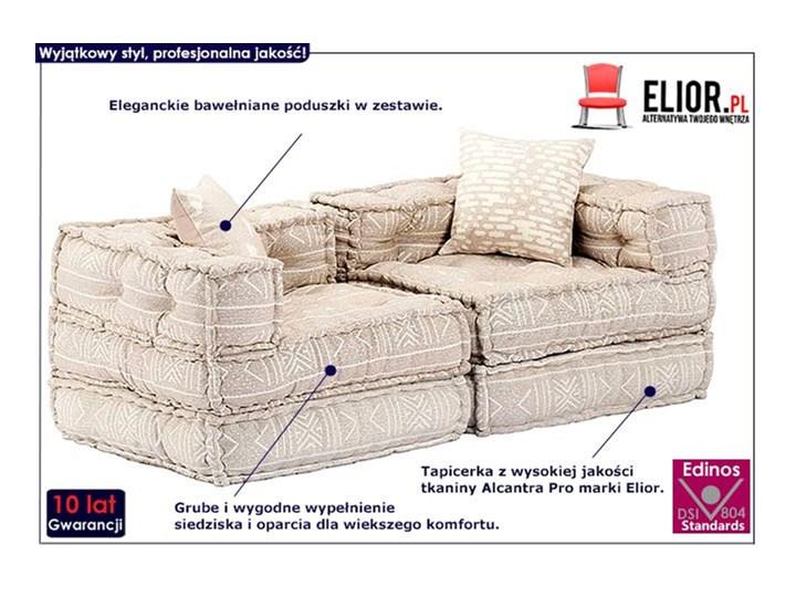 Dwuosobowa beżowa sofa modułowa - Demri 3D Szerokość 70 cm Modułowe Pomieszczenie Salon Kolor Beżowy