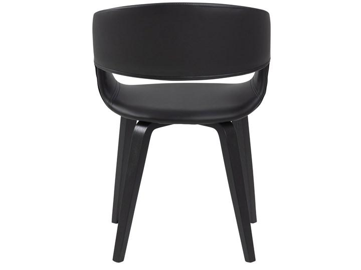 Krzesło Nova 51x78 cm czarne ekoskóra nogi fornir topola/brzoza Drewno Skóra ekologiczna Kolor Czarny
