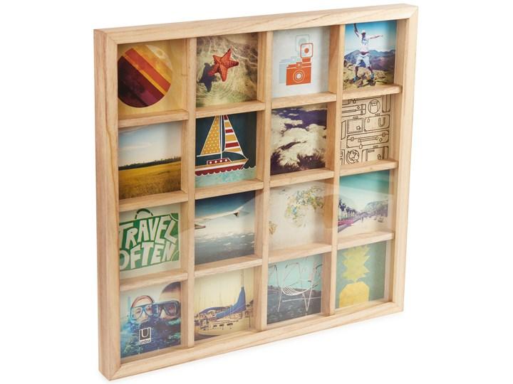 Ramka Gridart 43x43 cm drewniana Kolor Beżowy Drewno Multiramka Kategoria Ramy i ramki na zdjęcia