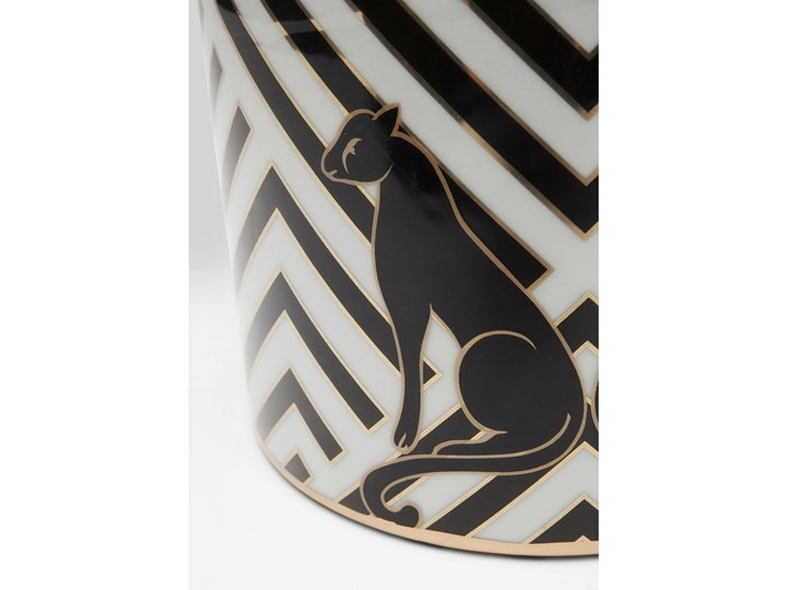Słoik dekoracyjny Panther Ø16x16 cm czarno-biały Typ Słoiki Kategoria Pojemniki i puszki