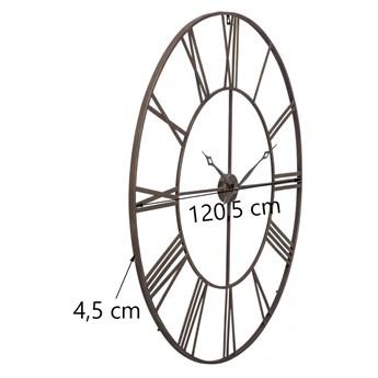 Zegar wiszący Factory Ø121 cm brązowy