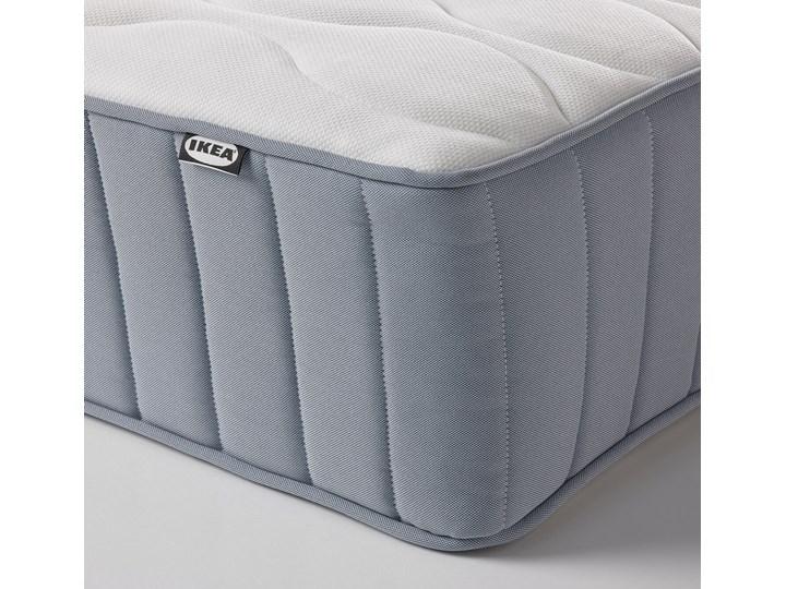 IKEA ESPEVÄR/VÅGSTRANDA Łóżko kontynentalne, biały/średnio twardy jasnoniebieski, 90x200 cm Łóżko pikowane Kategoria Łóżka do sypialni Pojemnik na pościel Bez pojemnika