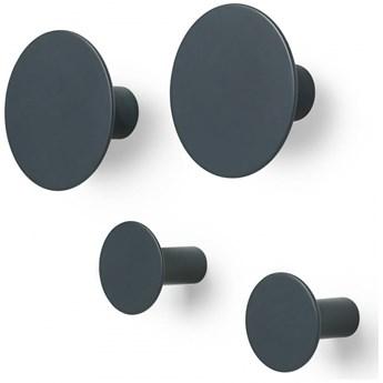 Zestaw 4 wieszaków łazienkowych ściennych GunMetal Blomus kod: B65800