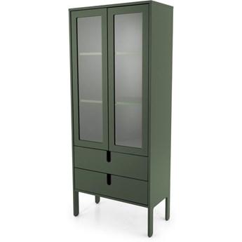 Witryna Uno 76x178 cm zielona