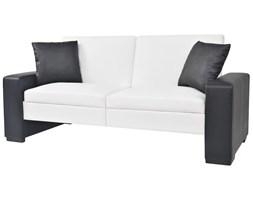 vidaXL Kanapa rozkładana z podłokietnikami, PVC, biała, regulowana