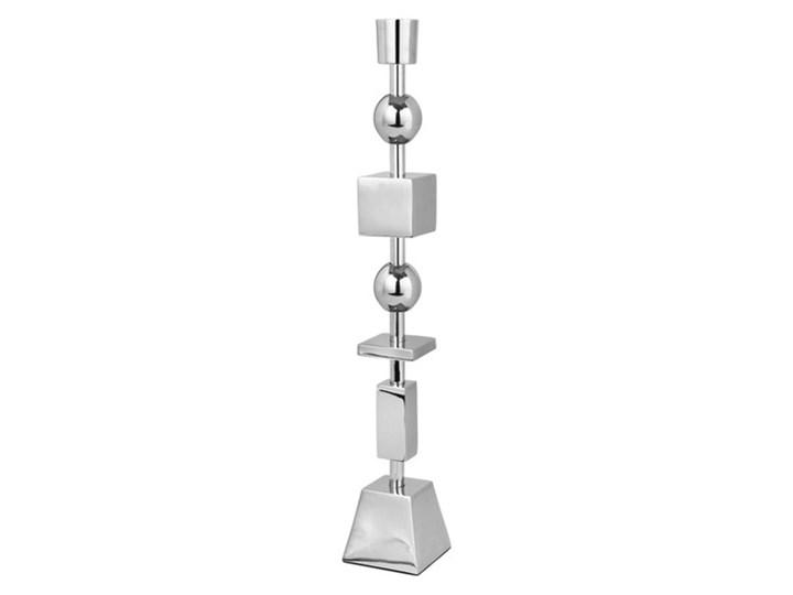 Broste Copenhagen - Świecznik Geog Kategoria Świeczniki i świece Aluminium Metal Kolor Szary