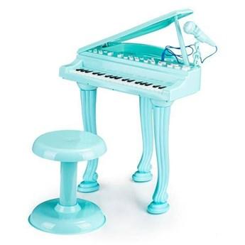 Fortepian niebieski dla dzieci z mikrofonem, mp3 Multistore