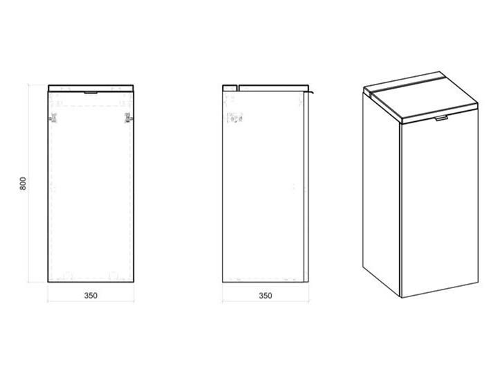 Półsłupek łazienkowy z koszem na pranie - Malta 4X Dąb Wiszące Kolor Beżowy Szerokość 35 cm Drewno Wysokość 80 cm Kategoria Szafki stojące