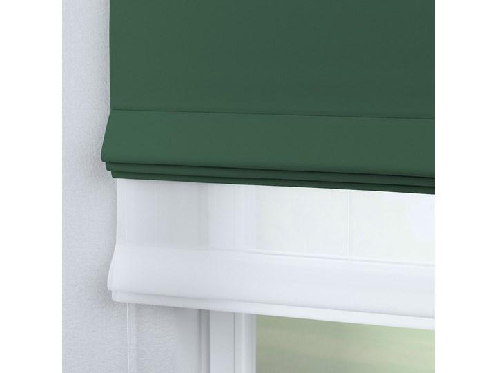 Roleta rzymska Duo, butelkowa zieleń, szer.130 × dł.170 cm, Blackout - zaciemniające Roleta woalowa Pomieszczenie Pokój nastolatka Pomieszczenie Kuchnia