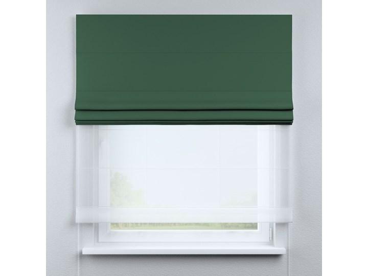 Roleta rzymska Duo, butelkowa zieleń, szer.130 × dł.170 cm, Blackout - zaciemniające Roleta woalowa Kolor Zielony Pomieszczenie Kuchnia