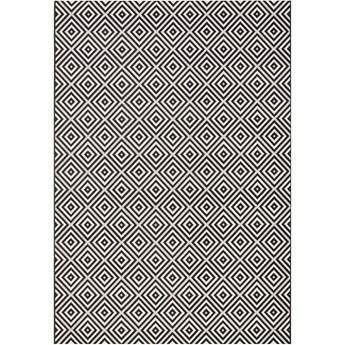 Czarno-biały dywan odpowiedni na zewnątrz Bougari Karo, 140x200cm