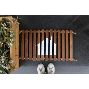 Wycieraczka drewniana Doormat Woodie, 64x40 cm