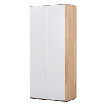 Moduł do szafy z konstrukcją z litego drewna dębowego z 2 szufladami Gazzda Ena, lewa strona