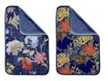 Zestaw 2 ręczników Madre Selva Tierra Blue Flowers Komplet ręczników Kategoria Ręczniki Łazienkowe Młodzieżowe Ręcznik kąpielowy Bawełna Kolor