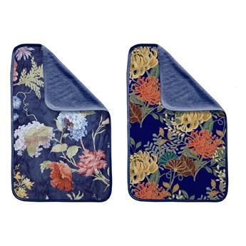 Zestaw 2 ręczników Madre Selva Tierra Blue Flowers
