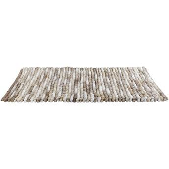 Jasnobrązowy dywanik łazienkowy Wenko Smooth Taupe, 90x60 cm