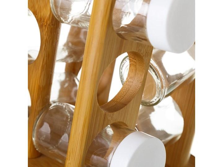 Komplet 12 pojemników na przyprawy ze stojakiem Unimasa Kategoria Przyprawniki Zestaw do przypraw Kolor Brązowy