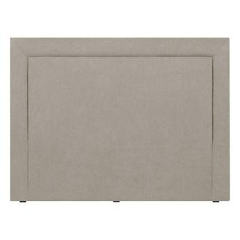 Kremowy zagłówek łóżka Mazzini Sofas Ancona, 140x120 cm