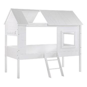 Białe łóżko dziecięce w kształcie domku Vipack Charlotte