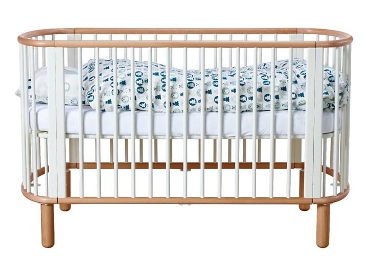 Białe łóżeczko dziecięce z drewna bukowego Flexa Baby, 70x140 cm Kategoria Drewno Łóżeczka drewniane Kolor Biały