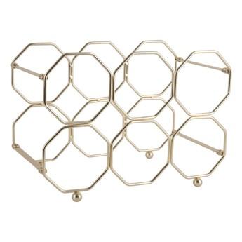 Metalowy składany stojak na wino w kolorze złota PT LIVING Honeycomb
