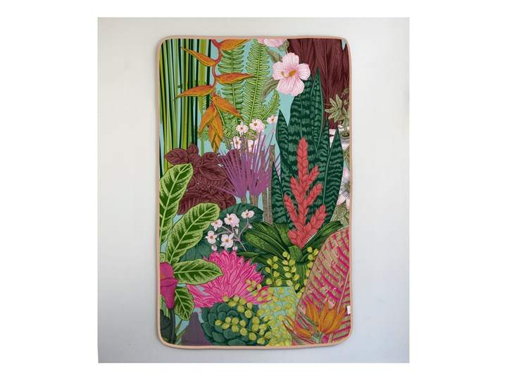 Ręcznik Madre Selva Palm Town, 150x90 cm Ręcznik kąpielowy 90x150 cm Bawełna Kategoria Ręczniki Kolor Różowy