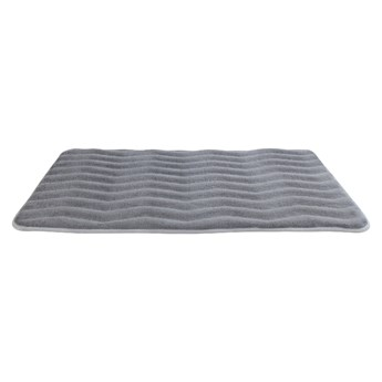 Jasnoszary dywanik łazienkowy z pianką z pamięcią kształtu Wenko Light Grey, 80x50 cm