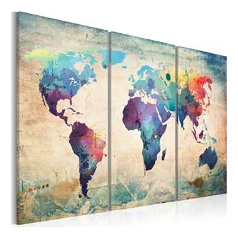Obraz na płótnie Bimago Rainbow Map 120x80 cm
