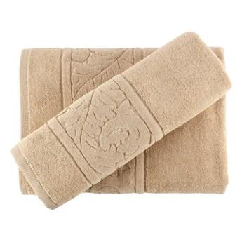 Zestaw beżowych bawełnianych ręczników Sultan Beige