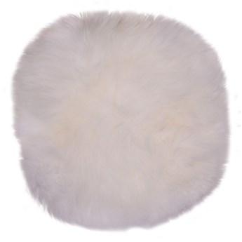 Biała skóra owcza House Nordic Circle, ⌀ 35 cm
