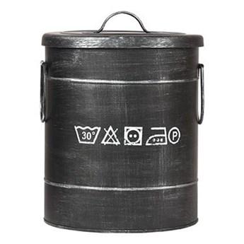 Czarny kosz metalowy na pranie LABEL51, ⌀ 26 cm