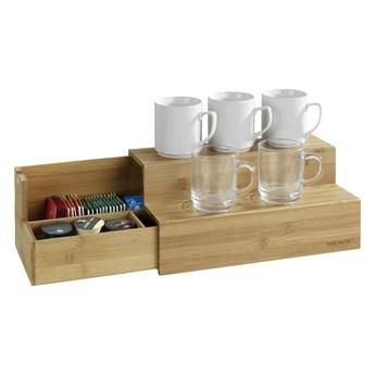 Pojemnik bambusowy na herbatę z półkami na kubki Wenko