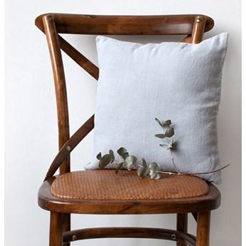 Jasnoszara lniana poszewka na poduszkę Linen Tales, 45x45 cm