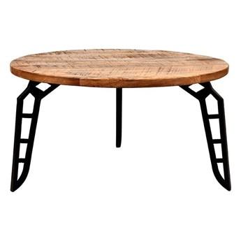 Stolik z blatem z drewna mango LABEL51 Flintstone, ⌀ 80 cm