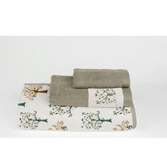 Komplet 3 ręczników z bawełny i mikrowłókna Surdic Trees