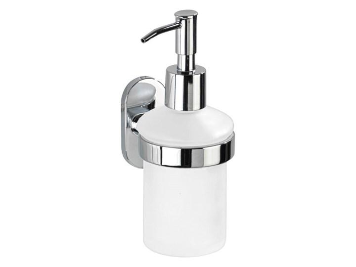 Samoprzylepny dozownik do mydła Wenko Power-Loc Puerto Rico, 200 ml Szkło Dozowniki Kategoria Mydelniczki i dozowniki Kolor Szary