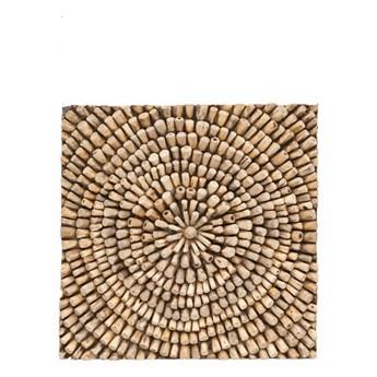 Dekoracja ścienna z drewna tekowego WOOX LIVING Bee, 70x70 cm