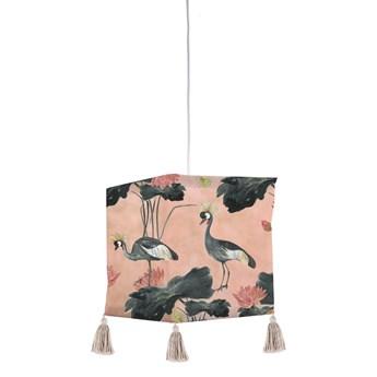 Tekstylna lampa wisząca Madre Selva Flores y Gruas