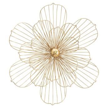 Dekoracja ścienna w złotym kolorze Mauro Ferretti Flower Stick, 60x54 cm