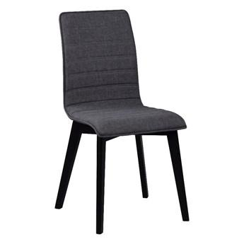 Ciemnoszare krzesło do jadalni z czarnymi nogami Rowico Grace
