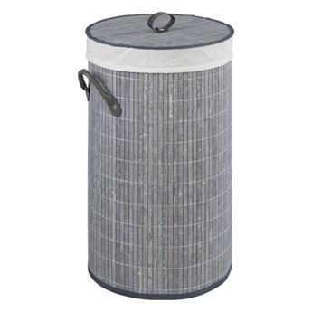 Szary bambusowy kosz na pranie Wenko Lilia