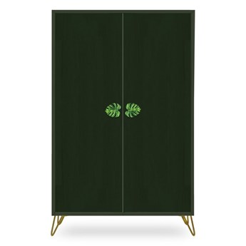 Zielona szafa z drewna sosnowego Velvet Atelier