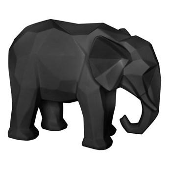 Matowa czarna figurka w kształcie słonia PT LIVING Origami Elephant