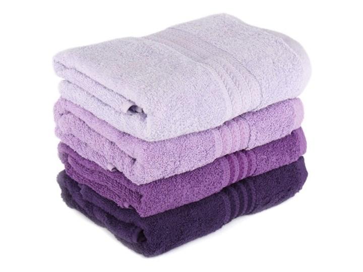 Zestaw 4 fioletowych bawełnianych ręczników Rainbow, 50x90 cm Komplet ręczników Ręcznik kąpielowy Łazienkowe Frotte Bawełna Kategoria Ręczniki