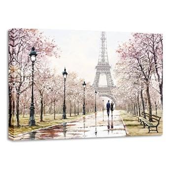Obraz Styler Canvas Watercolor Paris Melancholy, 85x113 cm