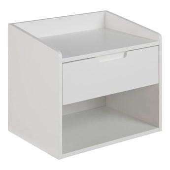 Biała szafka nocna z 1 szufladą Actona Dimeo