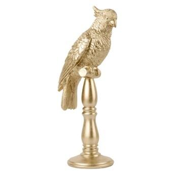 Figurka w kształcie papugi w kolorze złota PT LIVING Cockatoo, wys. 40 cm