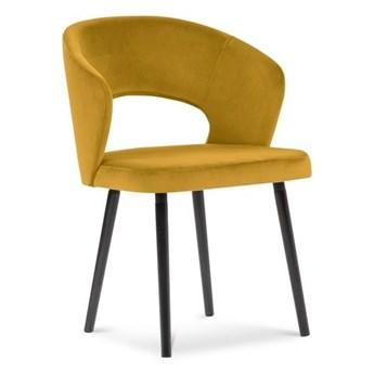 Żółte krzesło z aksamitnym obiciem Windsor & Co Sofas Elpis