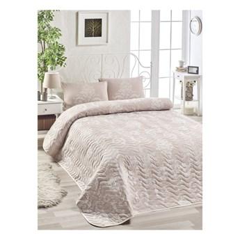 Zestaw narzuty na łóżko i poszewki na poduszkę z domieszką bawełny Kralice Mink, 160x220 cm