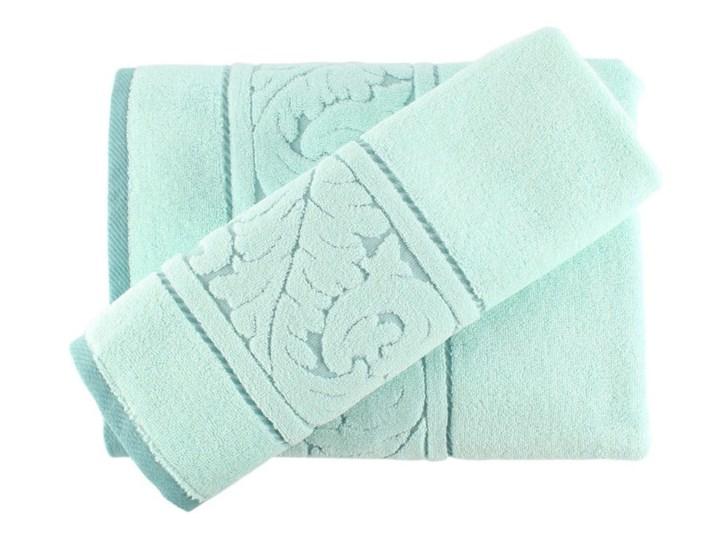 Zestaw miętowego ręcznika i ręcznika kąpielowego z bawełny Sultan Ręcznik kąpielowy Frotte Komplet ręczników Bawełna 70x140 cm Łazienkowe 50x90 cm Kategoria Ręczniki